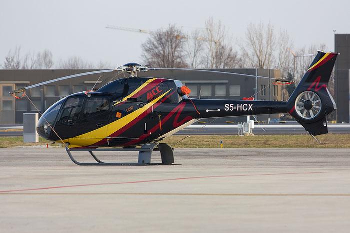 S5-HCX Flycom Eurocopter EC120B Colibri · Flycom @ Treviso Airport 06.03.2012 © Piti Spotter Club Verona