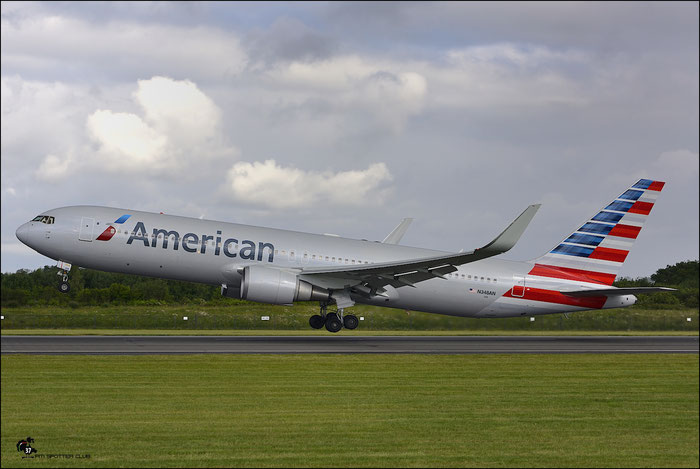 N348AN B767-323ER 33087/910 American Airlines @ Manchester Airport 21.06.2015 © Piti Spotter Club Verona
