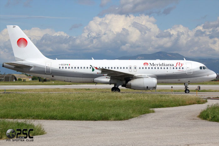 I-EEZP  A320-233  2102  Meridiana Fly  @ Aeroporto di Verona © Piti Spotter Club Verona