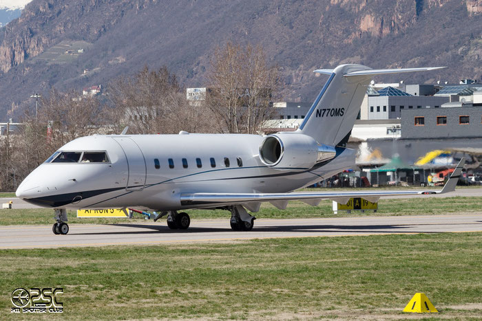 N770MS CL-604 5491 Bank of Utah @ Aeroporto di Bolzano © Piti Spotter Club Verona