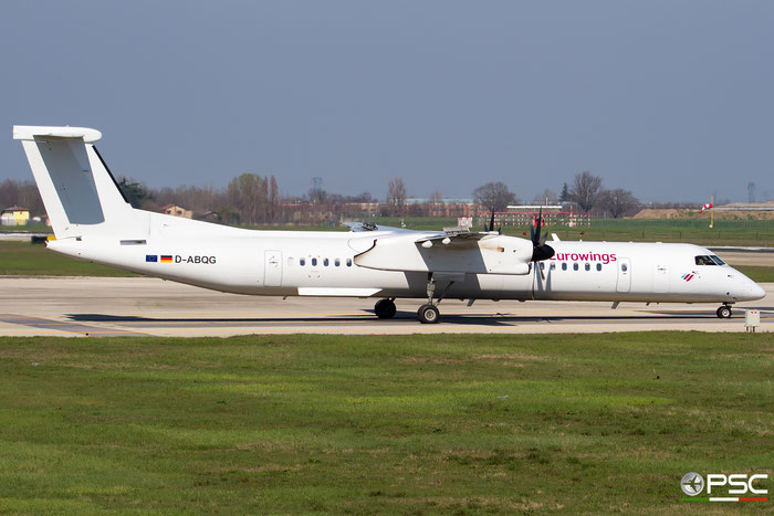 D-ABQG DHC-8-402 4250 Eurowings @ Bologna Airport 03.2018 © Piti Spotter Club Verona