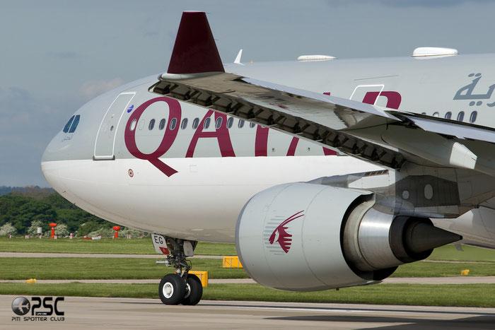 A7-AEG A330-302E 734 Qatar Airways @ Manchester Airport 13.05.2014 © Piti Spotter Club Verona