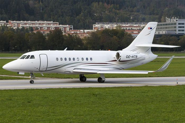 OE-HTR Falcon 2000LXS 276 Tupack Verpackungen GmbH @ Innsbruck Airport 10.2014 © Piti Spotter Club Verona