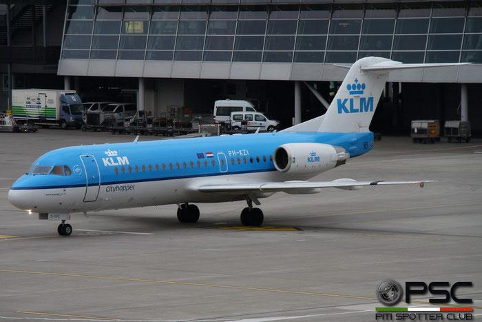 PH-KZI Fokker 70 11579 KLM Cityhopper @ Zurich Airport - 14.03.2016  © Piti Spotter Club Verona
