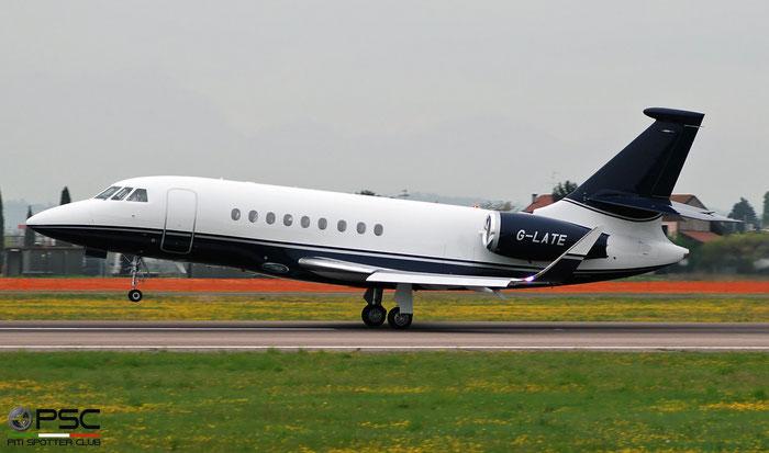 G-LATE Falcon 2000EX-EASy 088 Executive Jet Charter Ltd. @ Aeroporto di Verona 04.2019  © Piti Spotter Club Verona