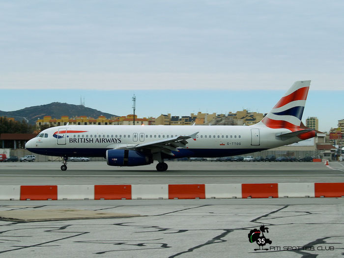 G-TTOG A320-232 1969 GB Airways @ Gibraltar Airport 24.01.2007 © Piti Spotter Club Verona