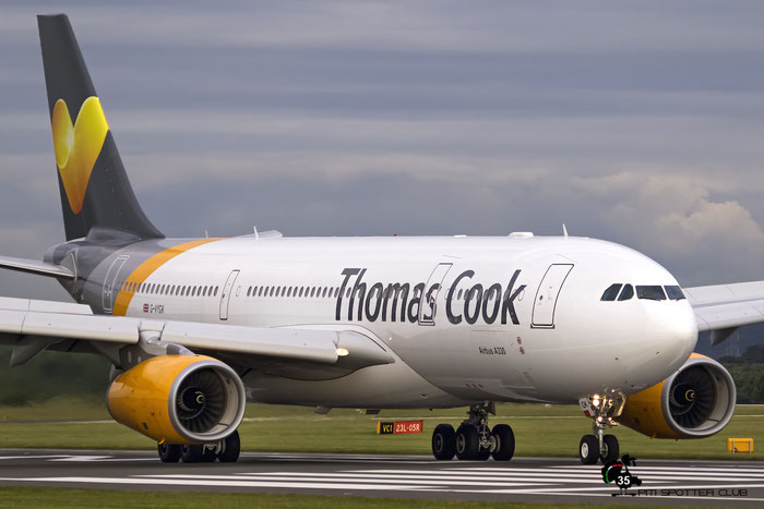 G-VYGK A330-243 1498 Thomas Cook Airlines @ Manchester Airport 21.06.2015 © Piti Spotter Club Verona