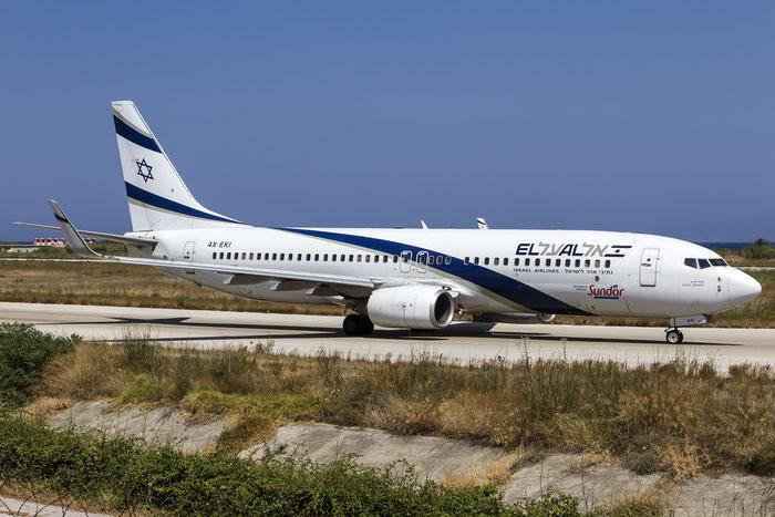 4X-EKI B737-86N 28587/192 El Al Israel Airlines @ Rhodes Airport 05.07.2015 © Piti Spotter Club Verona