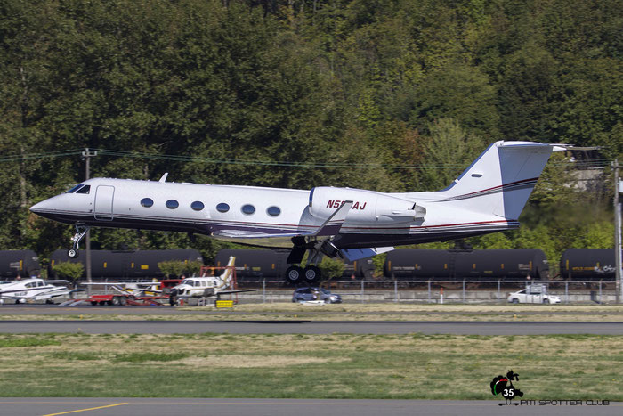 N583AJ G-IV 1184 Jerone S. Moss @ Boeing Field Airport 22.09.2015 © Piti Spotter Club Verona