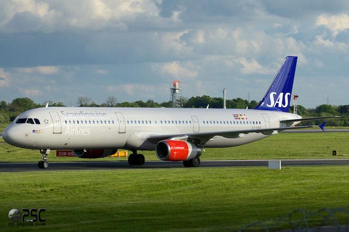 OY-KBB A321-232 1642 SAS Scandinavian Airlines - Scandinavian Airlines System @ Manchester Airport 13.05.2014 © Piti Spotter Club Verona