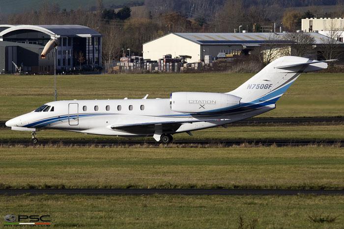 N750GF Ce750 750-0244 Sporter Air Inc. @ Gloucestershire Airport 2017 © Piti Spotter Club Verona