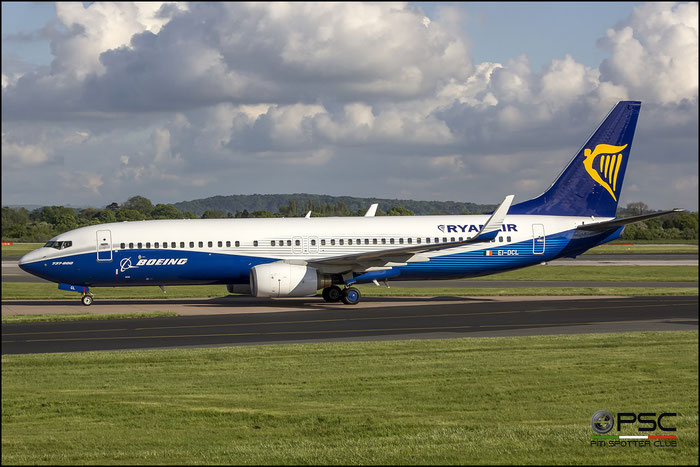 EI-DCL B737-8AS 33806/1576 Ryanair @ Manchester Airport 13.05.2013 © Piti Spotter Club Verona