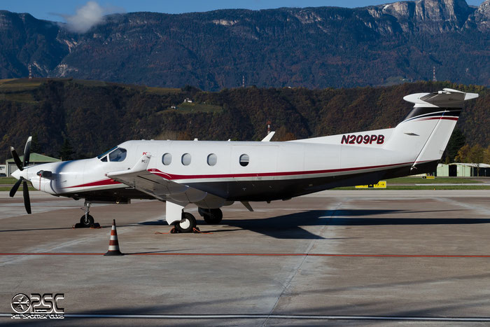 N209PB Pilatus PC-12/45 PC12 609 Meaulnes Aviation Inc Trustee @ Aeroporto di Bolzano © Piti Spotter Club Verona