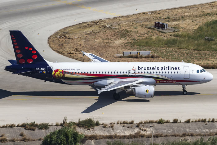 OO-SNC A320-214 1797 Brussels Airlines @ Rhodes Airport 06.07.2015 © Piti Spotter Club Verona