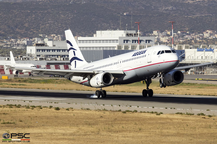 SX-DVM  A320-232  3439  Aegean Airlines @ Athens 2019 © Piti Spotter Club Verona