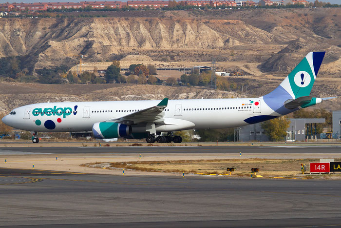 EC-MII A330-343E 1691 Evelop Airlines @ Madrid Airport 23.11.2017 © Piti Spotter Club Verona