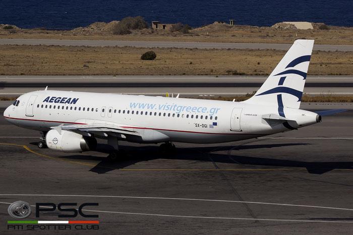SX-DGI A320-232 3162 Aegean Airlines @ Heraklion Airport 09.2016 © Piti Spotter Club Verona