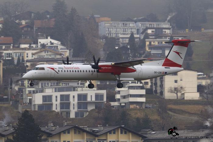 OE-LGK DHC-8-402 4280 Austrian Airlines @ Innsbruck Airport 02.05.2017 © Piti Spotter Club Verona