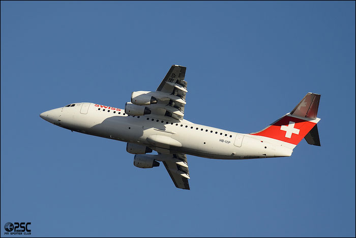 HB-IXP BAe146-RJ100 E3283 Swiss European Air Lines @ Milano Malpensa Airport 25.01.2014 © Piti Spotter Club Verona