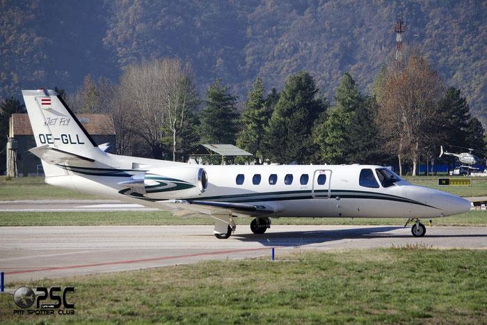 OE-GLL Ce550 Bravo 550-1069 Jet Fly @ Aeroporto di Bolzano © Piti Spotter Club Verona