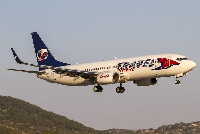 OK-TVM B737-8FN 37077/3163 Travel Service @ Rhodes Airport 07.2015 © Piti Spotter Club Verona