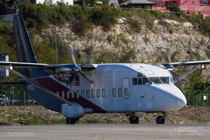 N151CA Sh360-100 SH3653 Air Cargo Carriers @ Sint Maarten Airport 04.2016 © Piti Spotter Club Verona
