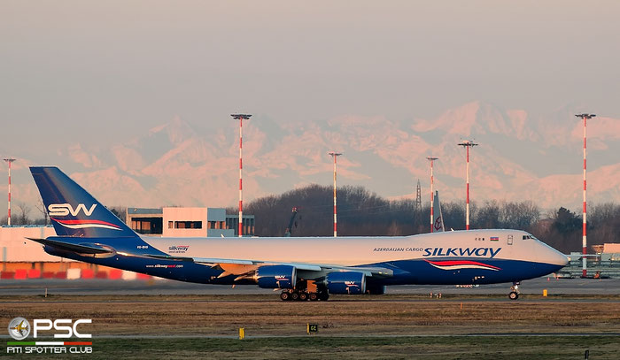VQ-BVB B747-83QF 44444/1493 Silk Way West Airlines @ Milano Malpensa Airport 20.02.2016 © Piti Spotter Club Verona