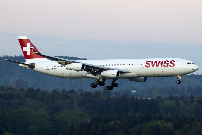 HB-JMD A340-313E 556 Swiss International Air Lines @ Zurich Airport 05.2016 © Piti Spotter Club Verona