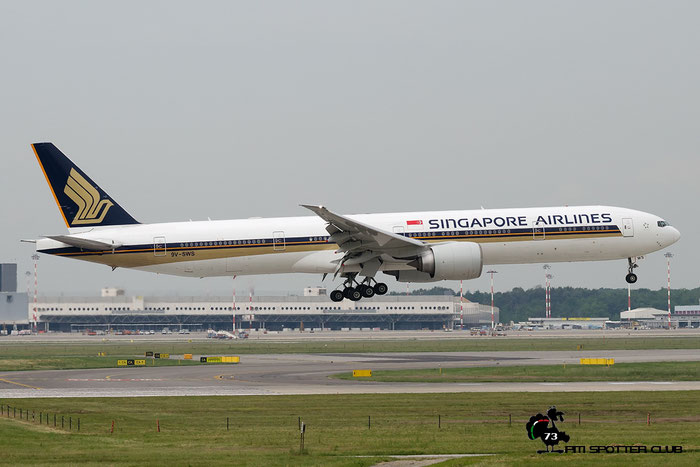 9V-SWS B777-312ER 34584/729 Singapore Airlines @ Milano Malpensa Airport 18.05.2016 © Piti Spotter Club Verona