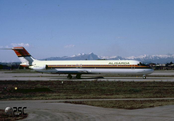 I-SMEI  DC-9-51  47714/824  Alisarda - Linee Aeree della Sardegna   @ Aeroporto di Verona © Piti Spotter Club Verona
