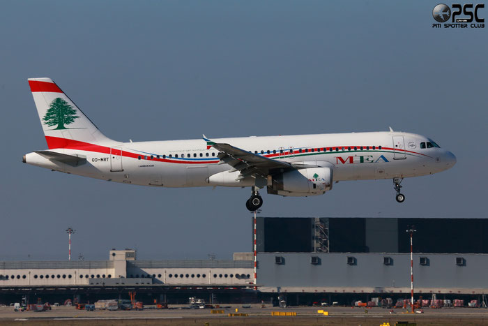 OD-MRT A320-232 3736 MEA - Middle East Airlines @ Milano Malpensa Airport 24.02.2014 © Piti Spotter Club Verona