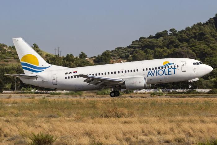 YU-ANI B737-3H9 23416/1175 Aviolet @ Rhodes Airport 07.2015 © Piti Spotter Club Verona