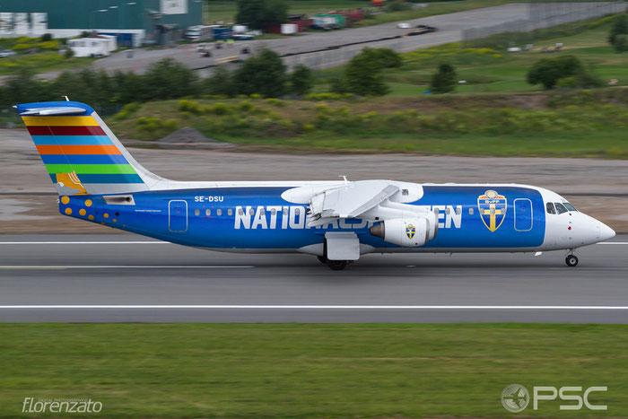 SE-DSU BAe146-RJ100 E3248 BRA - Braathens Regional Airlines @ Stockholm Bromma Airport 19.08.2016 © Piti Spotter Club Verona