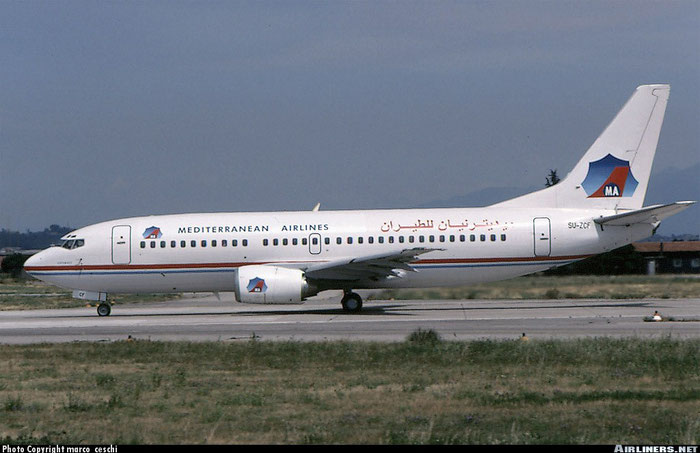 SU-ZCF B737-3Q8 26283/2383 Heliopolis Airlines leased to Mediterranean Airlines @ Aeroporto di Verona © Piti Spotter Club Verona