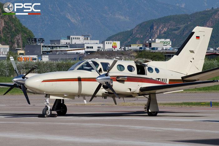 D-ITWL Cessna 425 Conquest 1 Private @ Aeroporto di Bolzano © Piti Spotter Club Verona