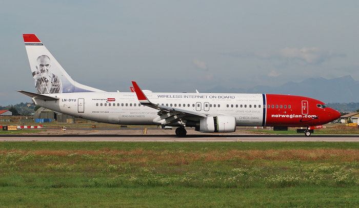 LN-DYU B737-8JP 39008/3725 Norwegian @ Aeroporto di Verona 18.10.2018  © Piti Spotter Club Verona