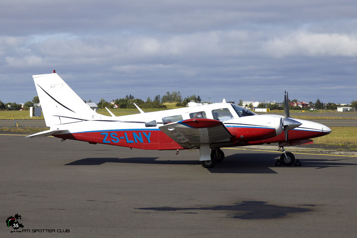 ZS-LNY. Piper PA-34-200 Seneca Private - @ Reykjavik 2019 © Piti Spotter Club Verona