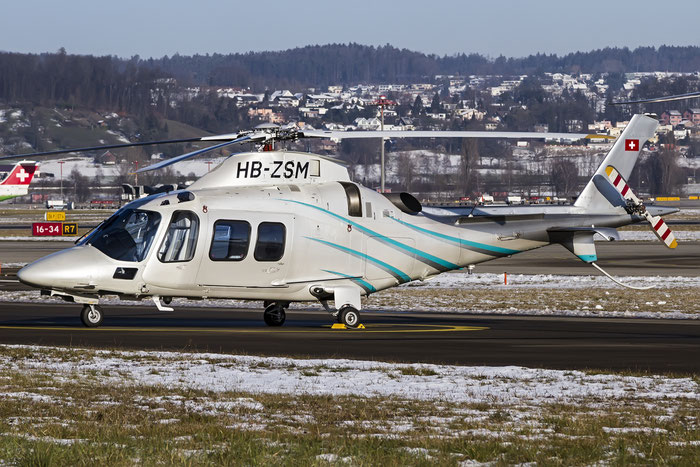 HB-ZSM Agusta A-109E LUH A109 @ Zurich Airport 21.01.2016 © Piti Spotter Club Verona