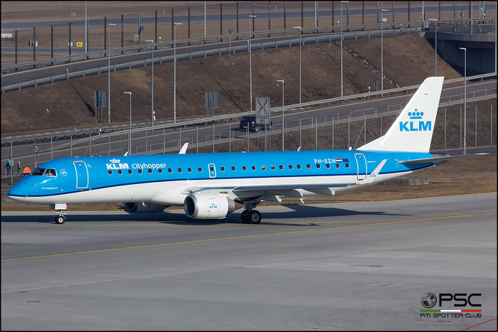 PH-EZH ERJ190STD 19000319 KLM Cityhopper @ Munich Airport - 14.02.2017  © Piti Spotter Club Verona