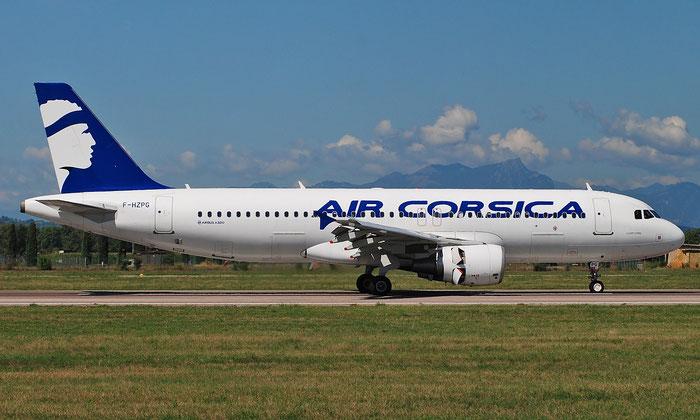 F-HZPG A320-216 5906 Air Corsica @ Aeroporto di Verona 05.09.2018  © Piti Spotter Club Verona