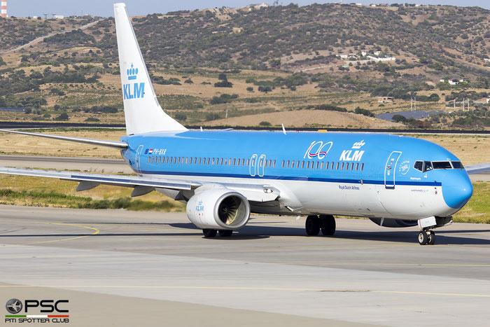 PH-BXR  B737-9K2  29601/959  KLM Royal Dutch Airlines @ Athens 2019 © Piti Spotter Club Verona