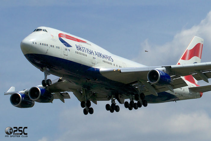 G-BYGF B747-436 25824/1200 British Airways @ London Heathrow Airport 12.06.2014  © Piti Spotter Club Verona