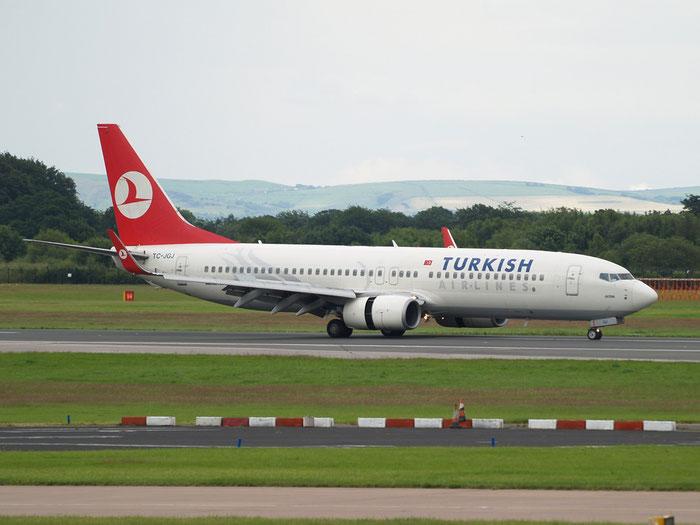 TC-JGJ B737-8F2 34408/1880 Turkish Airlines - THY Türk Hava Yollari @ Manchester Airport 20.07.2012 © Piti Spotter Club Verona