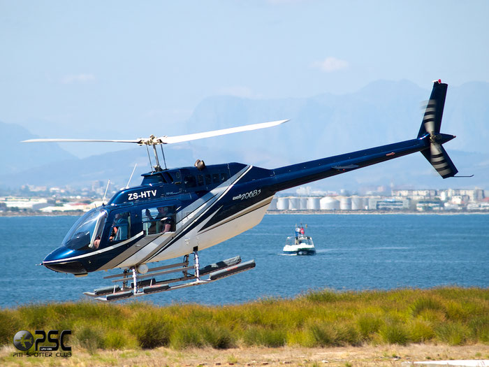 ZS-HTV Private Bell 206B JetRanger II @ Cape Town downtown Heliport Airport 19.03.2014 © Piti Spotter Club Verona
