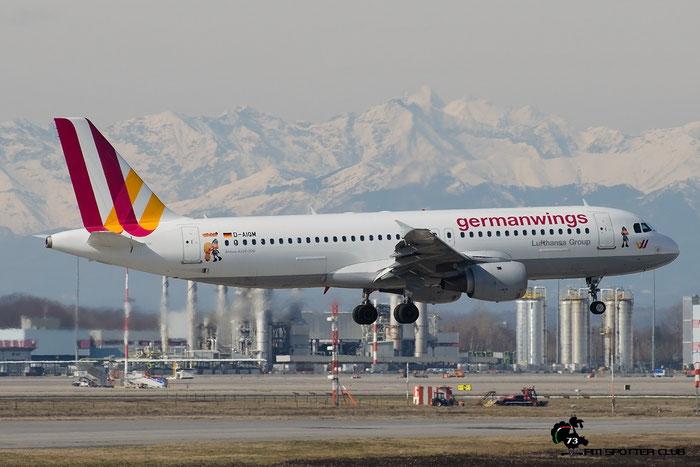 D-AIQM A320-211 268 Germanwings @ Milano Malpensa Airport 20.02.2016 © Piti Spotter Club Verona