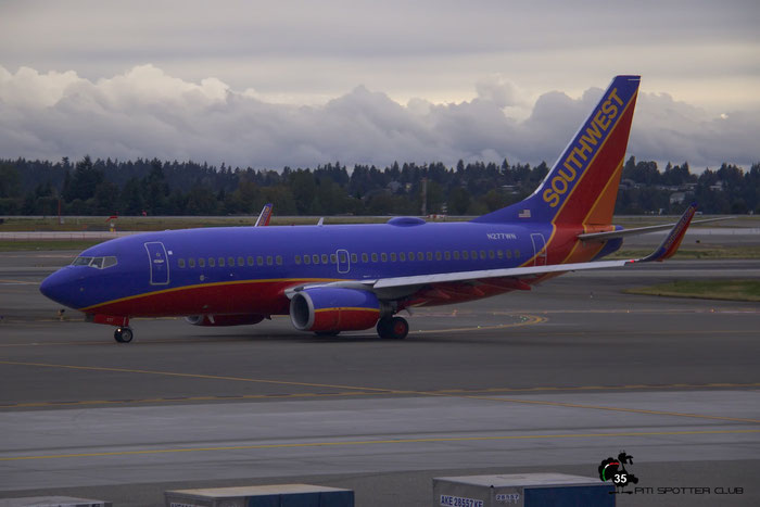 N277WN B737-7H4 32531/2274 Southwest Airlines @ Seattle Tacoma Airport 25.09.2015 © Piti Spotter Club Verona
