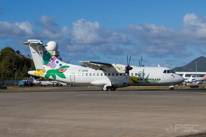 F-OIXE ATR42-500 807 Air Antilles Express @ Sint Maarten Airport 09.04.2016 © Piti Spotter Club Verona