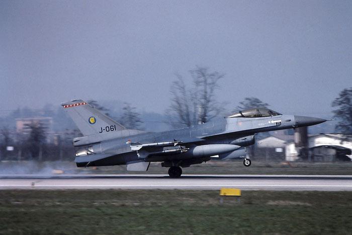 J-061   F-16AM  6D-144  322sq @ Aeroporto di Verona   © Piti Spotter Club Verona