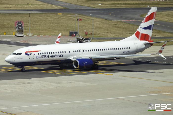 ZS-ZWG B737-8LD 40972/5770 Comair - Commercial Airways @ Cape Town International Airport 24.11.2017 © Piti Spotter Club Verona
