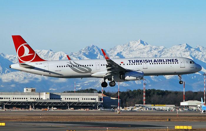 TC-JTP A321-231 7516 Turkish Airlines - THY Türk Hava Yollari@ Milano Malpensa Airport 29.12.2017 © Piti Spotter Club Verona